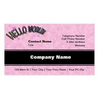 Pretty Rainbow Hello World Business Card