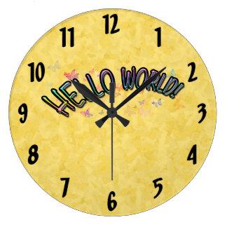 Pretty Rainbow Hello World Clocks