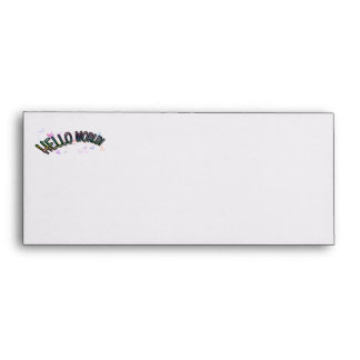 Pretty Rainbow Hello World Envelope