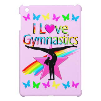 PRETTY RAINBOW I LOVE GYMNASTICS DESIGN iPad MINI COVER