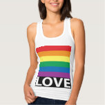 Pretty Rainbow Love, Pride, LGBT, Celebrate Love Jersey Racerback Tank Top