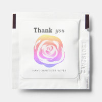 Pretty Rainbow Rose Thank You Hand Sanitizer Packet