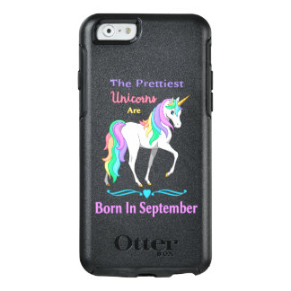 Pretty Rainbow Unicorns Born In September OtterBox iPhone 6/6s Case