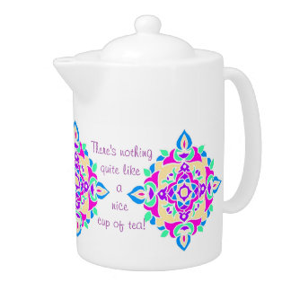 Pretty Rangoli Pattern Tea Pot to Customize