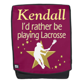 PRETTY RATHER BE PLAYING LACROSSE CUSTOM BACKPACK