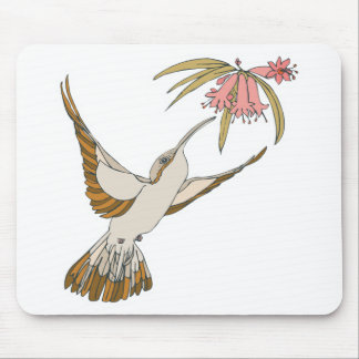 pretty realistic hummingbird mouse pad