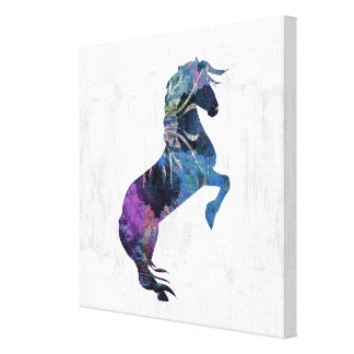 Pretty Rearing Fantasy Horse Art Canvas Print