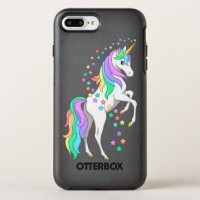 Pretty Rearing Rainbow Unicorn Falling Stars OtterBox Symmetry iPhone 8 Plus/7 Plus Case