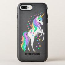 Pretty Rearing Rainbow Unicorn Falling Stars OtterBox Symmetry iPhone 8 Plus/7 Plus Case