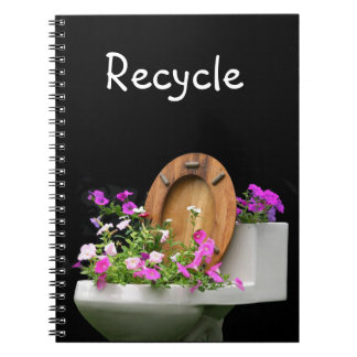 Pretty recycling notebook