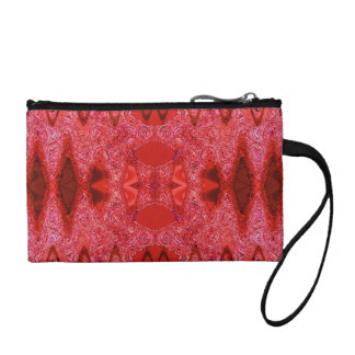 pretty red abstract pattern coin wallet