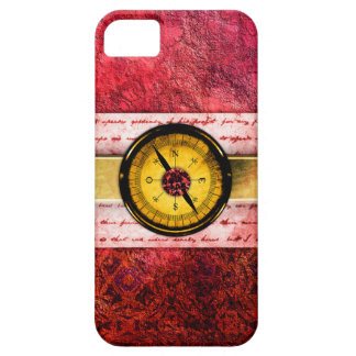 Pretty Red Ancient Tome Fantasy Scrapbook iPhone 5 Cases