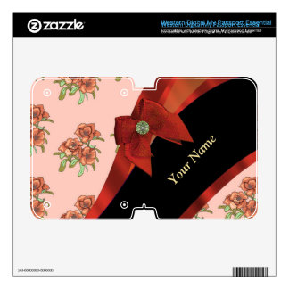 Pretty red and pink vintage floral pattern WD my passport skin