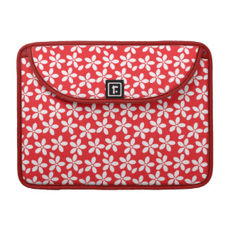 Pretty red and white floral MacBook case