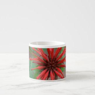 Pretty Red Bee Balm Espresso Mug