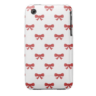 Pretty red bow pattern. iPhone 3 Case-Mate case