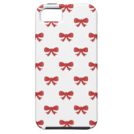 Pretty red bow pattern iPhone 5 cover