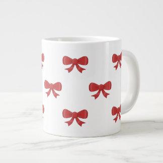 Pretty red bow pattern. jumbo mugs