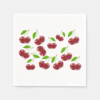 Pretty Red Cherries Napkin