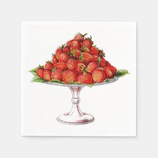 Pretty Red Cherries Summer Fruit Standard Cocktail Napkin