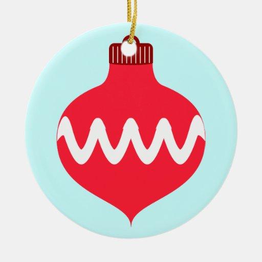Pretty Red Christmas Bulb Christmas Tree Ornament