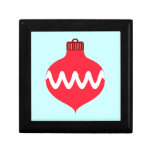 Pretty Red Christmas Bulb Jewelry Boxes