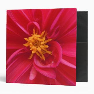 Pretty Red Dahlia Binder