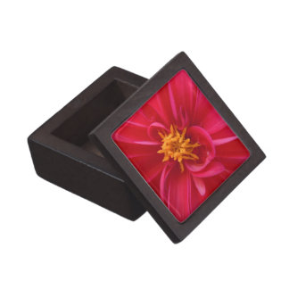 Pretty Red Dahlia Premium Jewelry Boxes