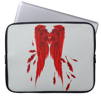 Pretty Red Feathers Angel Wings Design Computer Sleeves