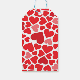 pretty red hearts gift tags