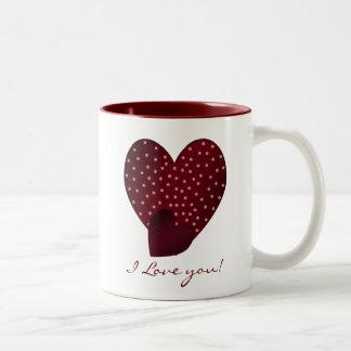 Pretty Red Hearts: I Love You Mug