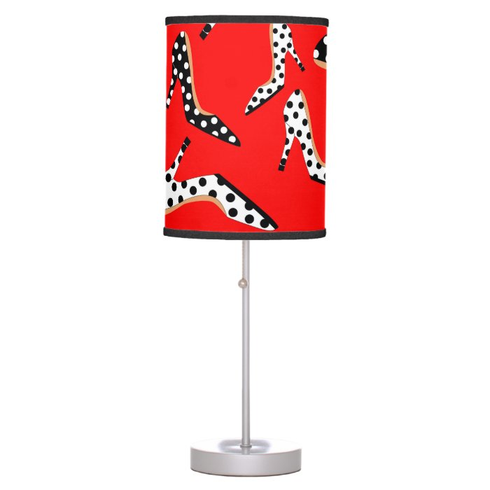 Pretty Red Heels Desk Lamp Zazzle