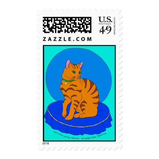 Pretty Red Kitty Postage
