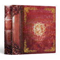 Pretty Red Magic Star Ancient Tome 3 Ring Binder