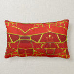 Pretty Red Mosaic Tiles Girly Pattern Pillows