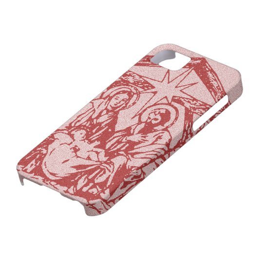 Pretty Red Nativity iPhone SE/5/5s Case