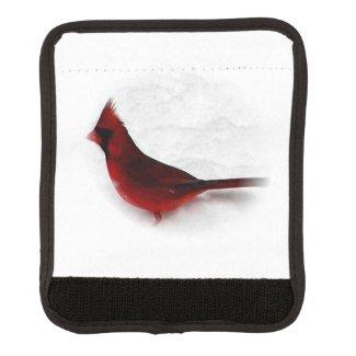 Pretty Red Northern Cardinal Bird Luggage Handle Wrap
