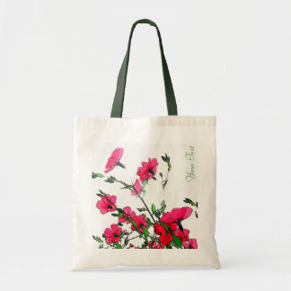 Pretty Red Pink Floral Customizeable Bag