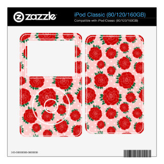 Pretty Red Roses Skins For iPod Classic