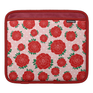 Pretty Red Roses Sleeves For iPads