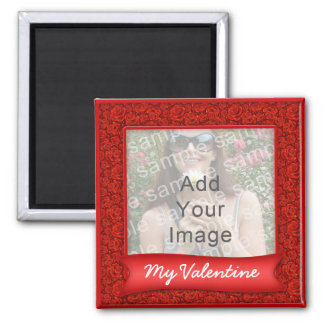 "Pretty Red Roses Valenitnes Photo ""Frame"" Magnet"