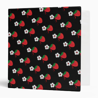 Pretty Red Strawberries Binder