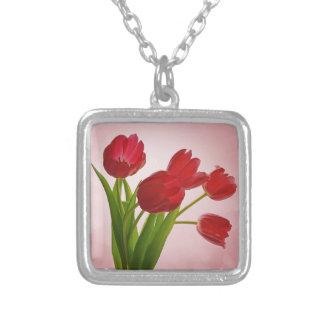 pretty red tulip flowers jewelry