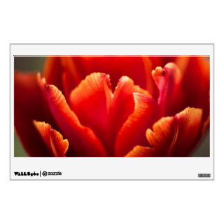Pretty Red Tulip Petals photo. Nature photography. Wall Decal