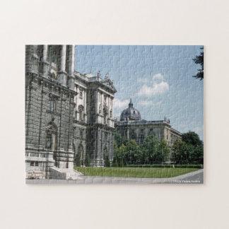Pretty Retro 1950's Vienna Austria Street Scene Jigsaw Puzzle