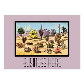 Pretty Retro Cactus Chart Girly Dusty Pink Desert Large Business Cards (Pack Of 100)