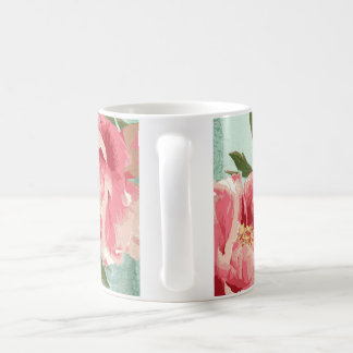 Pretty Retro Flower Chintz Peonies Personalized Coffee Mug