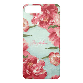 Pretty Retro Flower Elegant Stylish Chintz Peonies iPhone 7 Plus Case