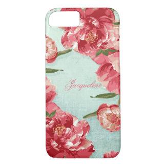 Pretty Retro Flower Elegant Stylish Chintz Peonies iPhone 8/7 Case