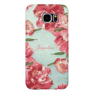 Pretty Retro Flower Elegant Stylish Chintz Peonies Samsung Galaxy S6 Case